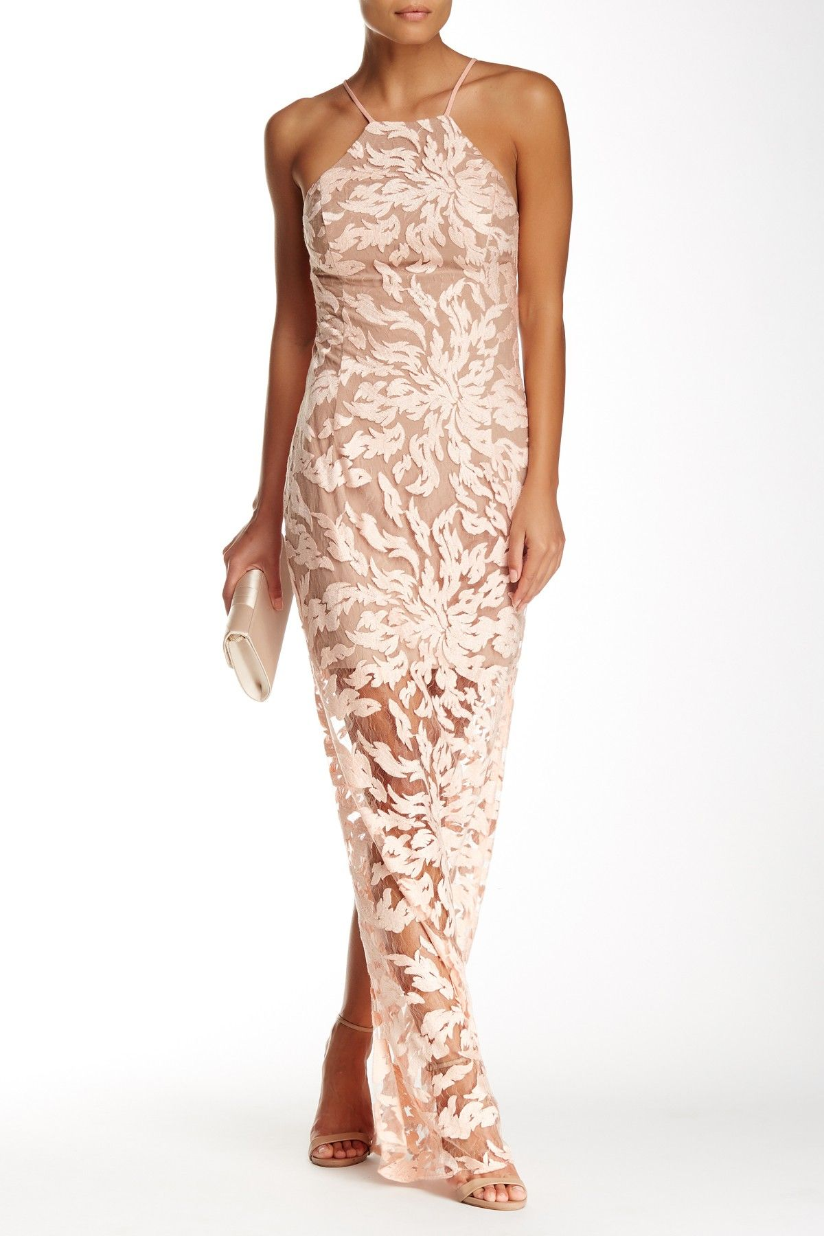 Embroidered Lace Gown by ABS by Allen Schwartz on @nordstrom_rack