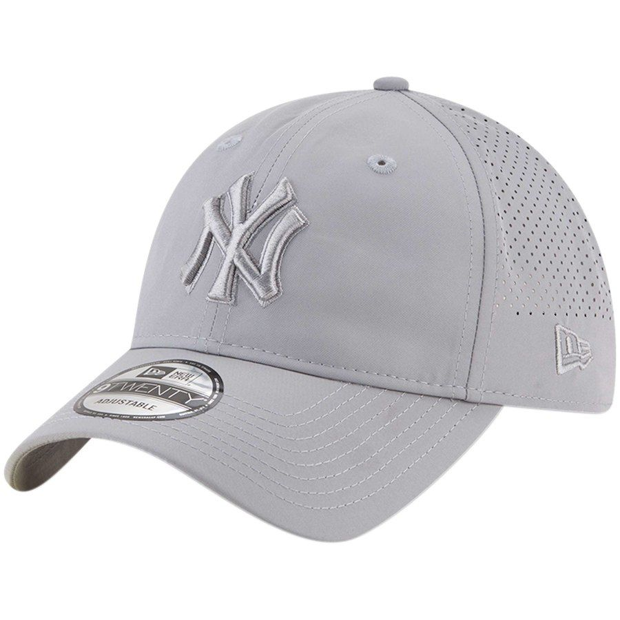 9ed25ae0213 Men s New York Yankees New Era Gray Perforated Tone 9TWENTY Adjustable Hat