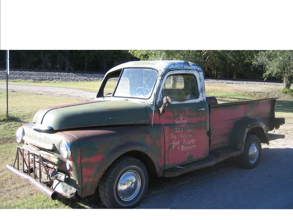 Sold 1950 dodge truck sold locally rat rod pickup 1950 dodge old standard gas station shop truck patina rat rod pickup project 49 in ebay sciox Images