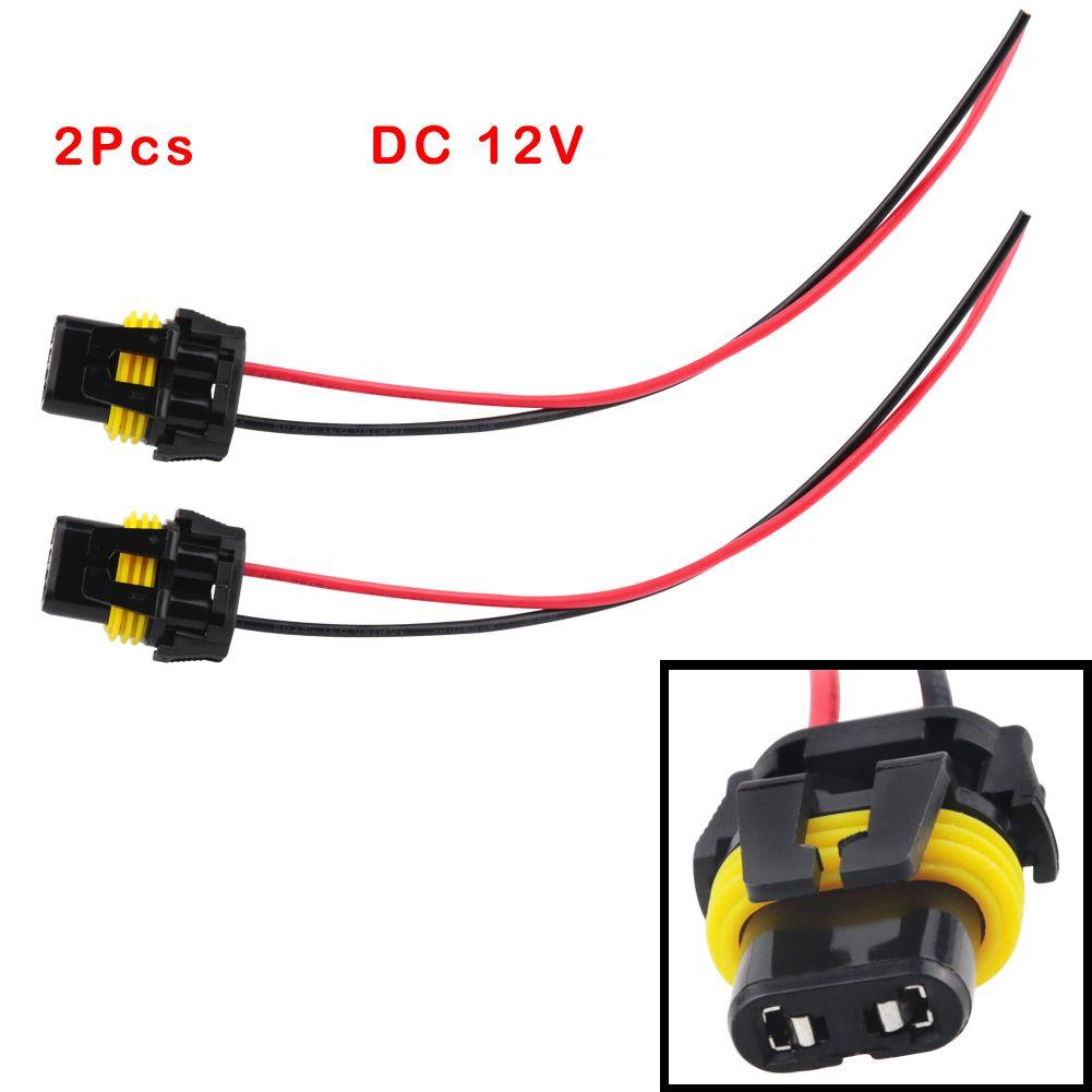 2pcs Universal Power Cord 9005 Hb3 9006 Hb4 H10 Female Adapter Wiring Harness Sockets Cable For Headlight Fog Led Light Bu Led Light Bulb Car Electronics Power