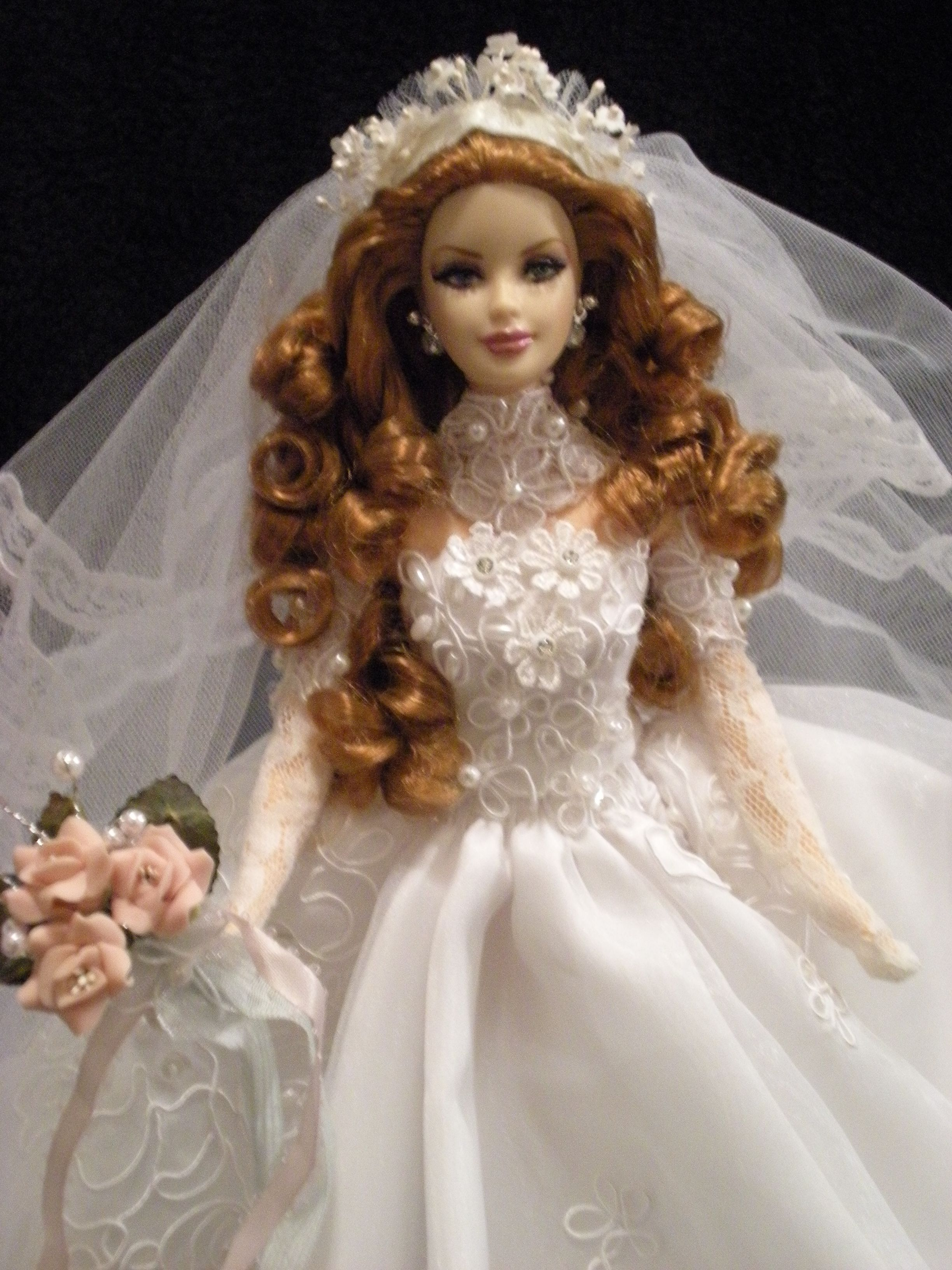 Ooak Barbie Bride Pretty Mariee Barbie Wedding Dress Barbie Bridal Barbie Wedding