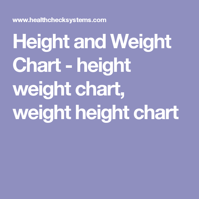Height And Weight Chart  Height Weight Chart Weight Height Chart