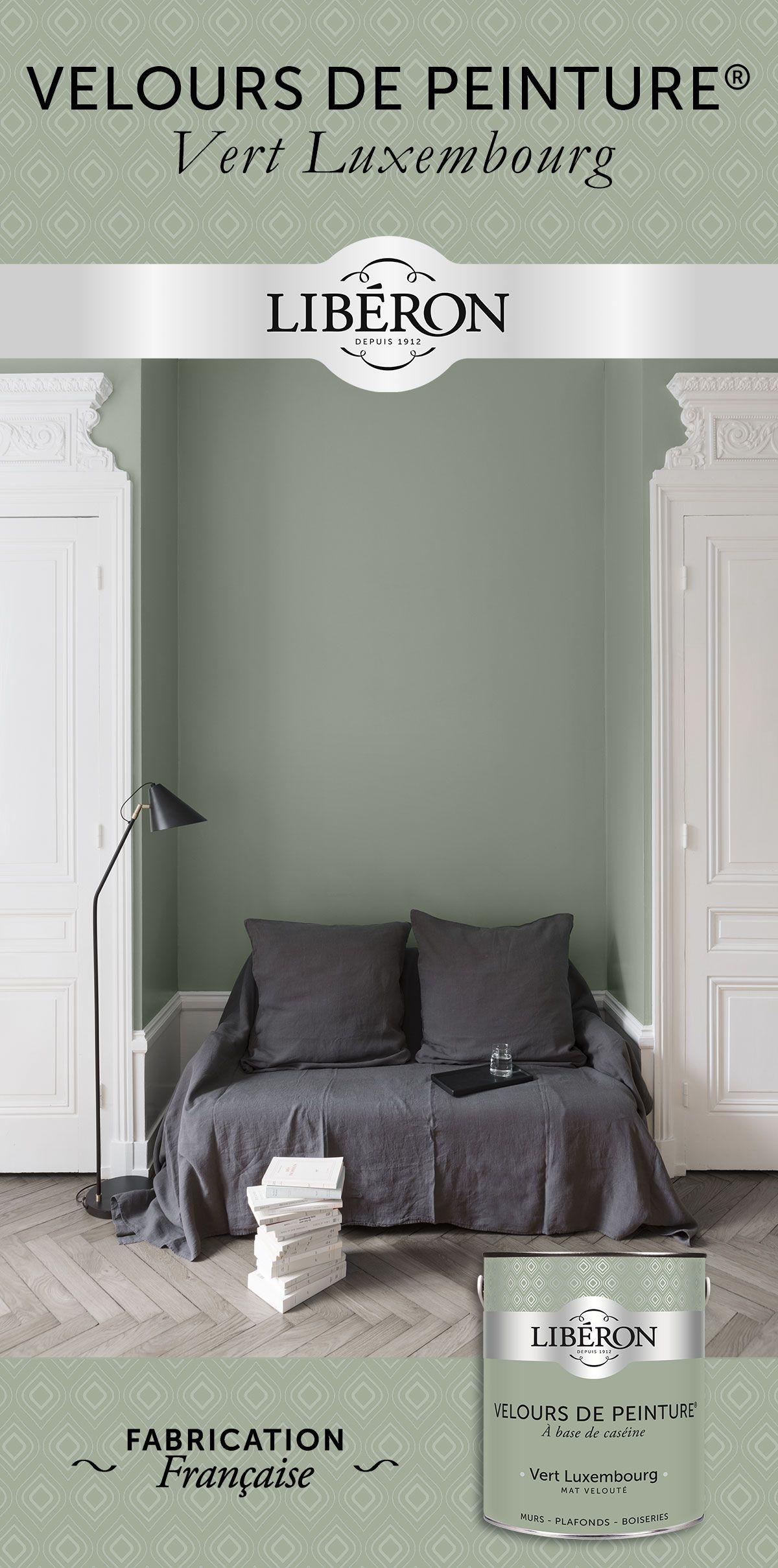 Vert Luxembourg - Peinture murs Velours de Peinture® Libéron