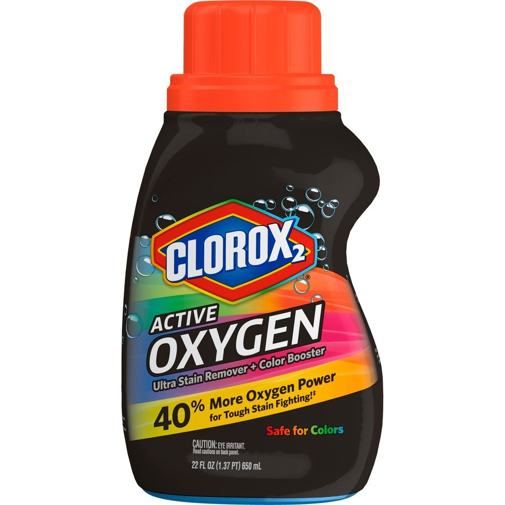 Clorox2 Active Oxygen Ultra Stain Remover Color Booster 22 Fl