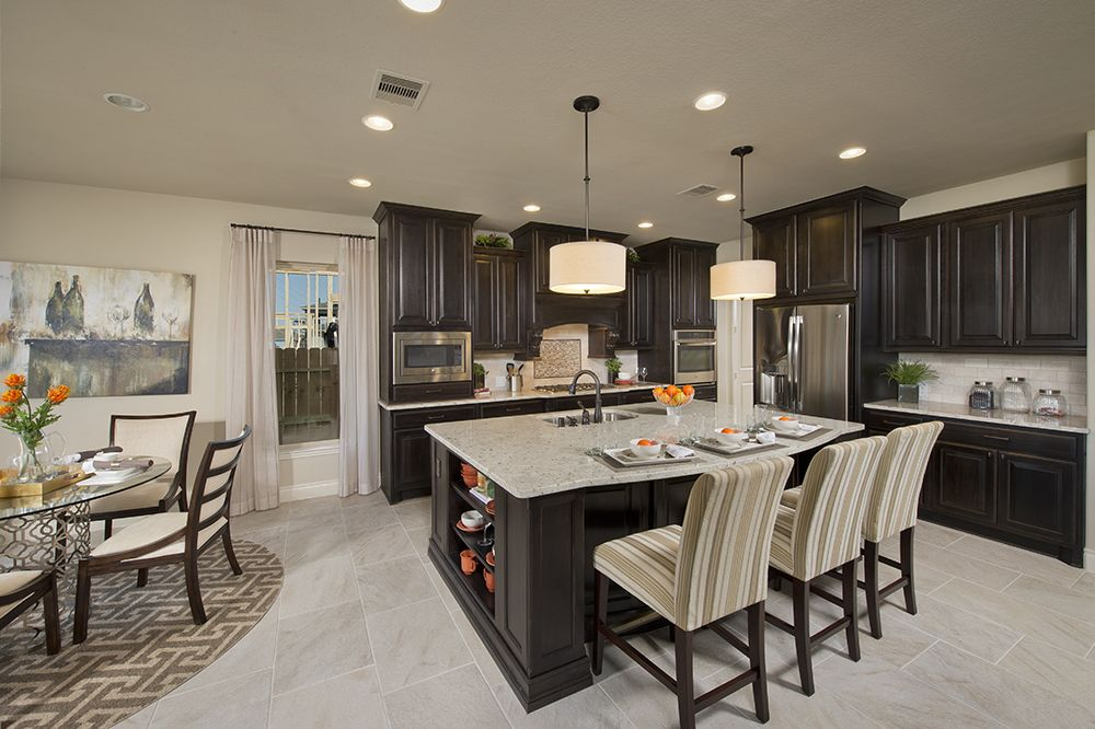 Kitchen Model Homes valenciaperry homes model home - 4,192 sq. ft. - kitchen