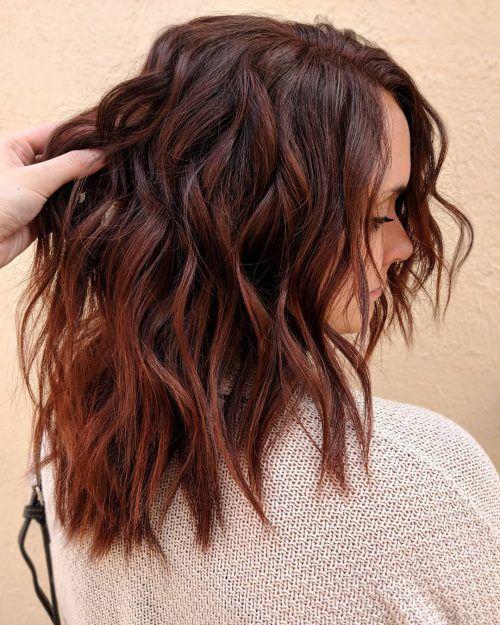 24 heißesten dunklen Auburn Haarfarbe Ideen von 2019 – Frisuren Neue Frisuren und Haarfarben