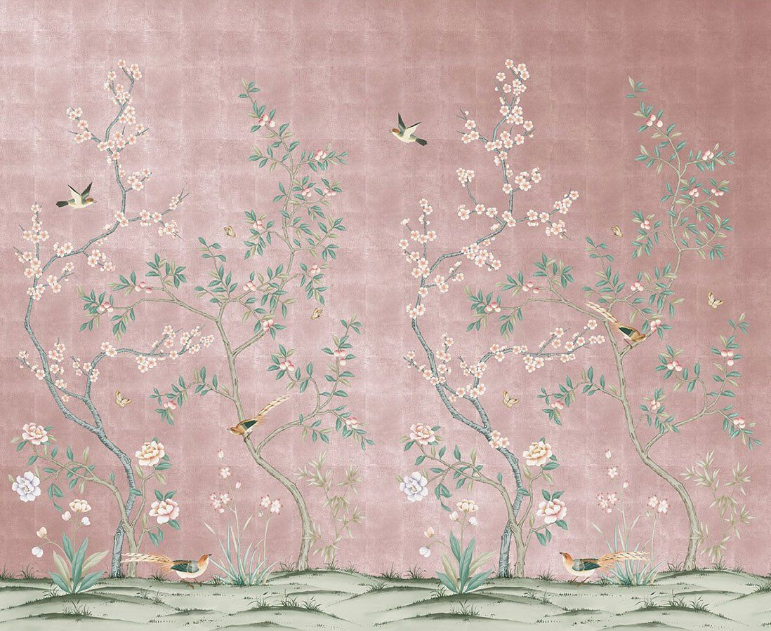 This Chinoiserie Wallpaper Is Temporary, Affordable, and
