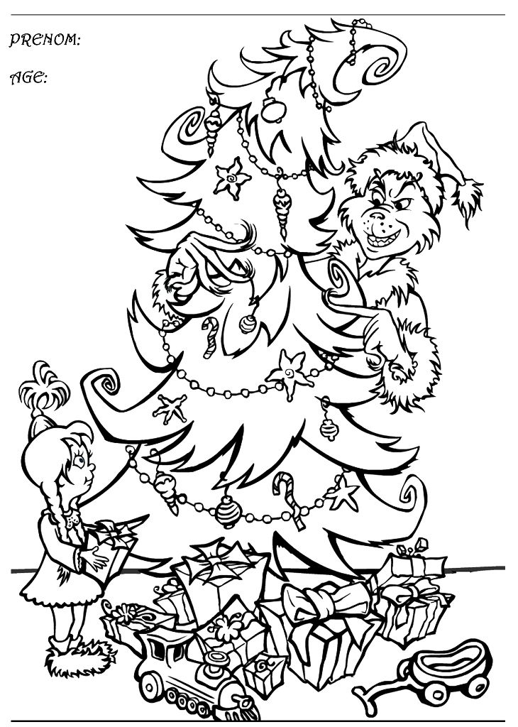 Grinch Coloring Pages to Print | baby grinch colouring ...