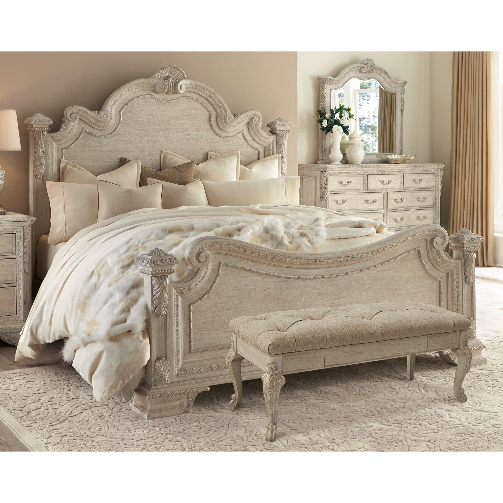 Furniture Discount Sites: A.R.T. Furniture Renaissance Estate Panel Bed, Size: Queen