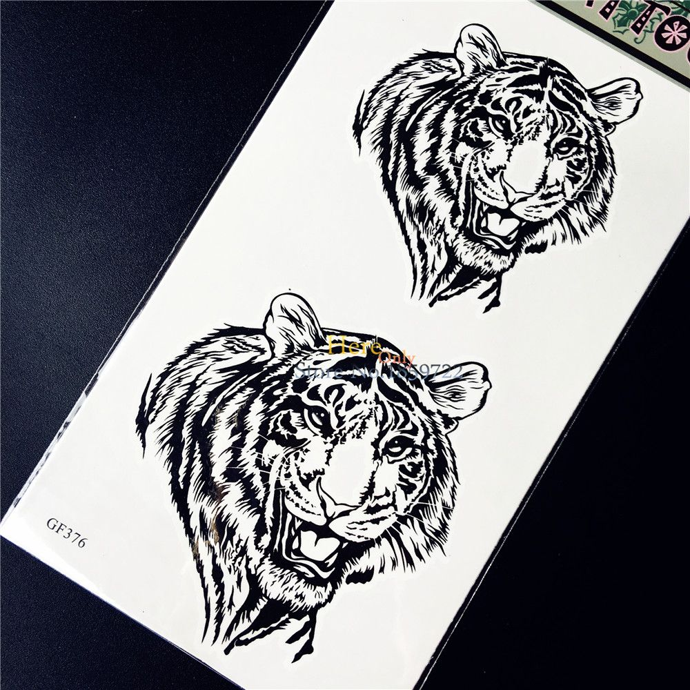Disposable Tiger King Temporary Tattoo Stickers Waterproof Arm Leg