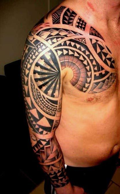 Polynesian tribal tattoos for men tatto bra o for Mens tattoos with meaning