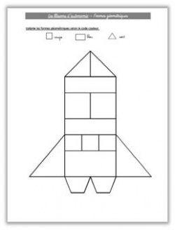 Blasons d 39 autonomie de ruimte espace maternelle - Coloriage des formes geometriques ...