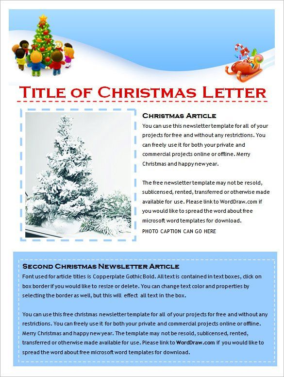 newsletter sample ,newsletter creator Newsletter Template - christmas letter template free