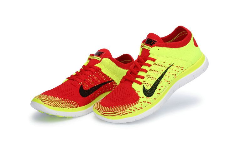 fe789373a65b Free Shipping Only 69  Nike WMNS Free 4.0 Flyknit Laser Orange Volt Bright  Crimson Black