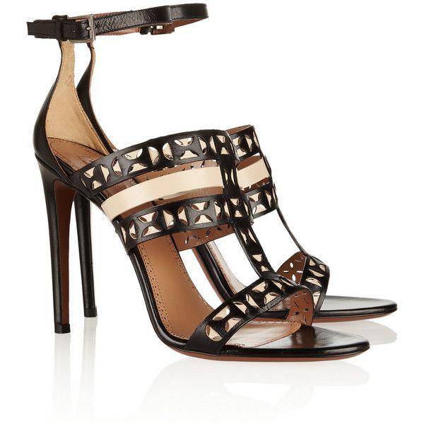 Alaïa Laser-cut matte-leather sandals