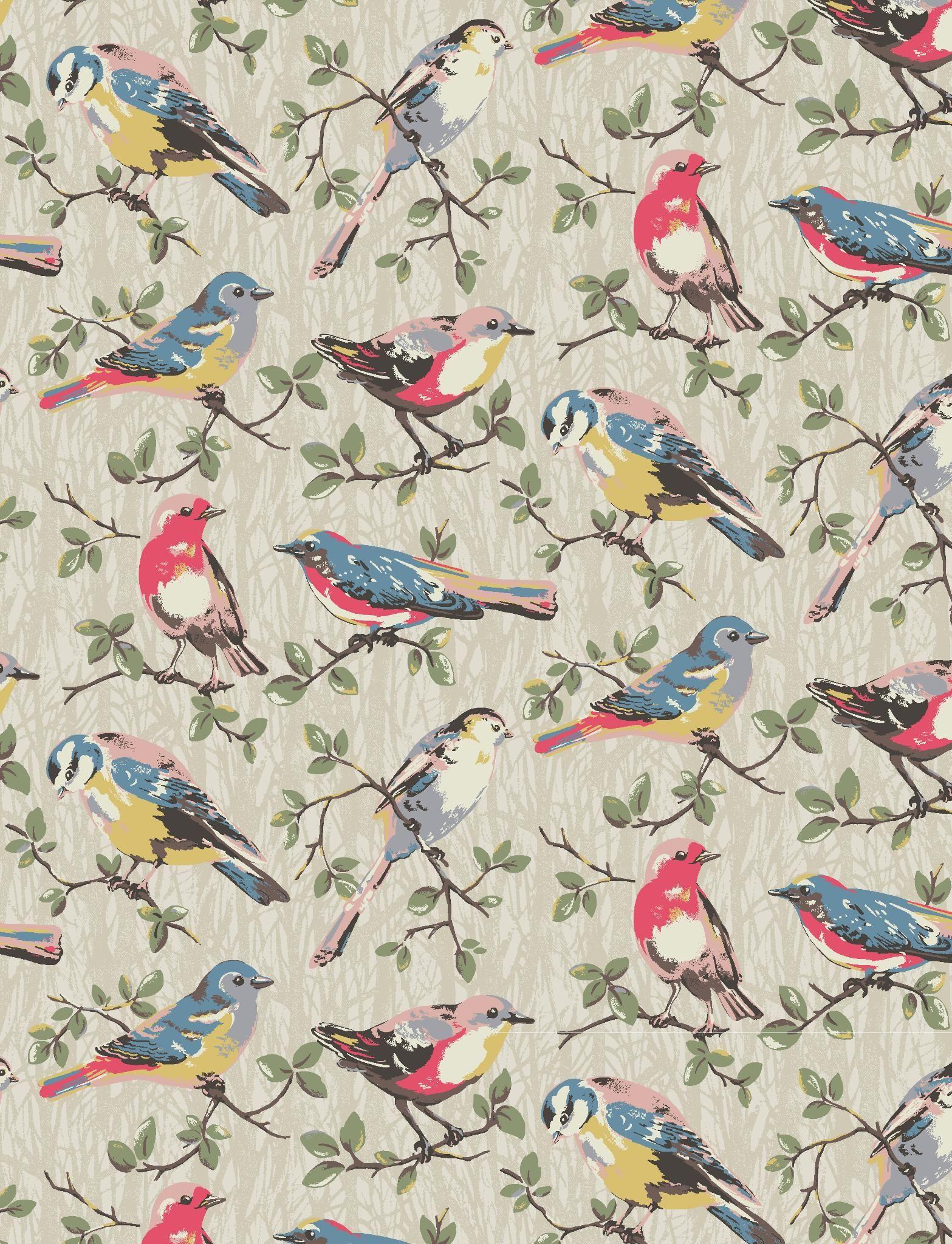 Bird wallpaper pattern