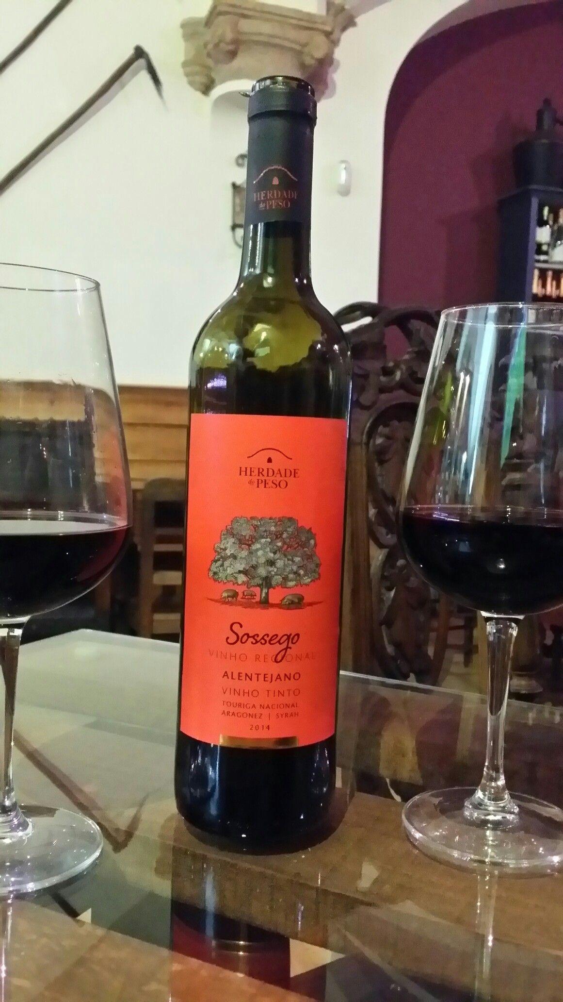 Red Wine Herdade Do Peso Sossego 2015 Alentejo Vinho Tinto Wine Herdade