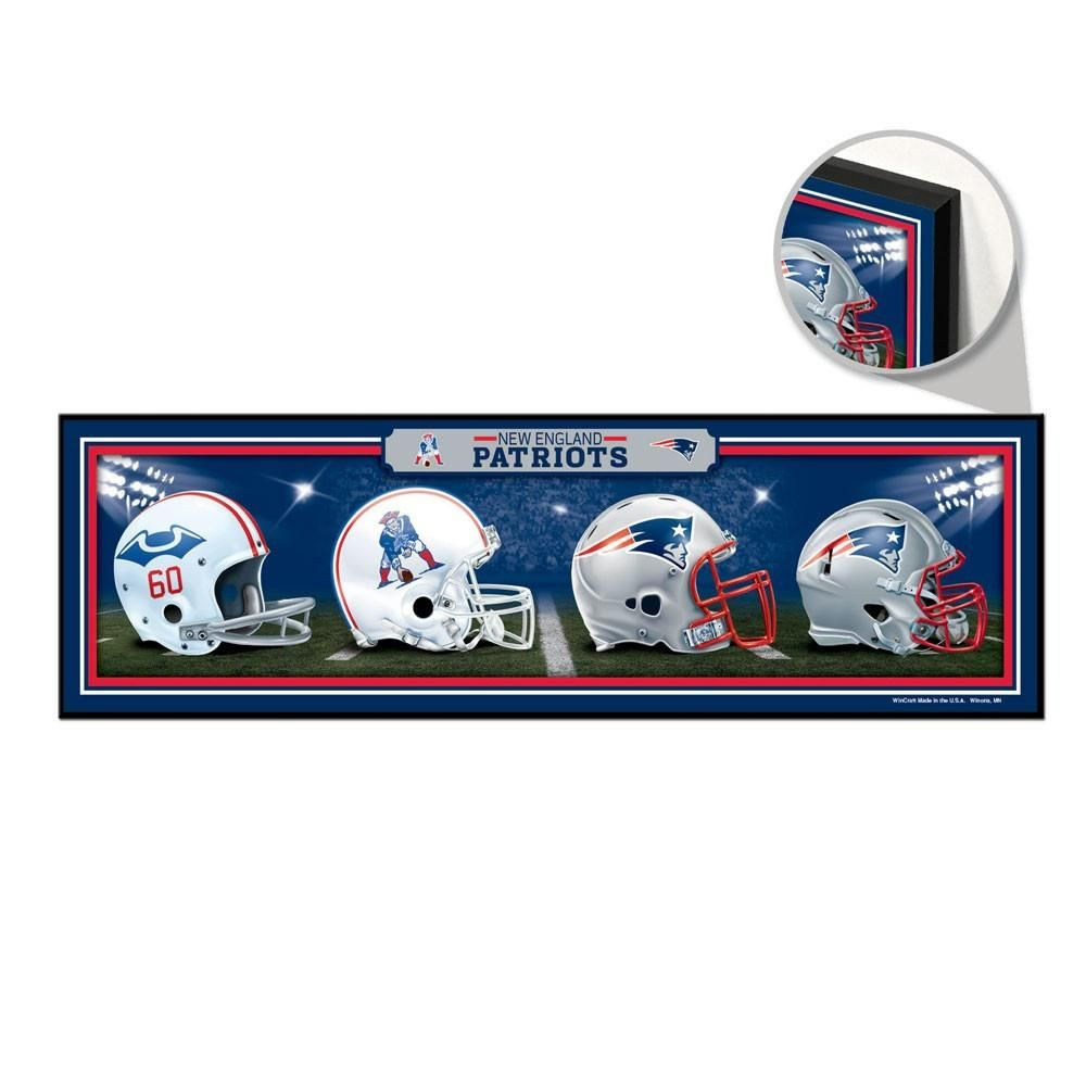 New England Patriots Helmet Evolution Sign