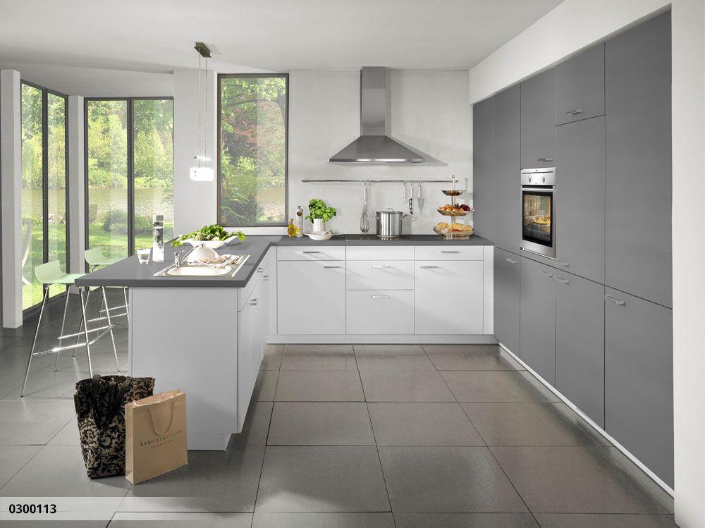 Küche in U-Form Küche Pinterest - küchenzeile hochglanz weiß