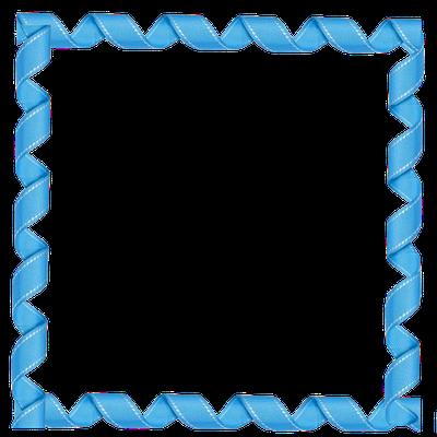 FREE DIGI SCRAPBOOK SQUARE CURLY BLUE RIBBON FRAME ELEMENT ***Join ...