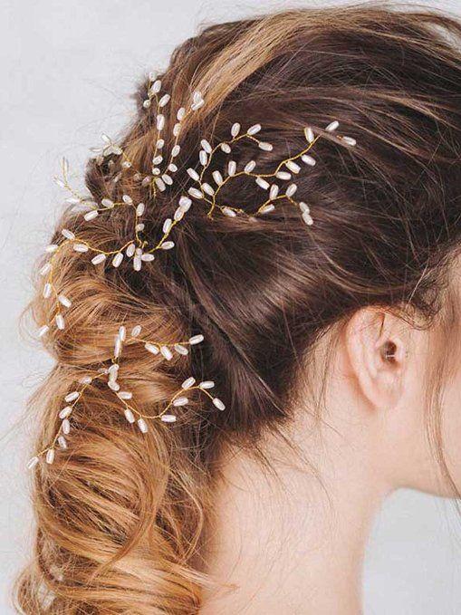 1pc Bridal hair pins pearl hair pins silver color hair pins