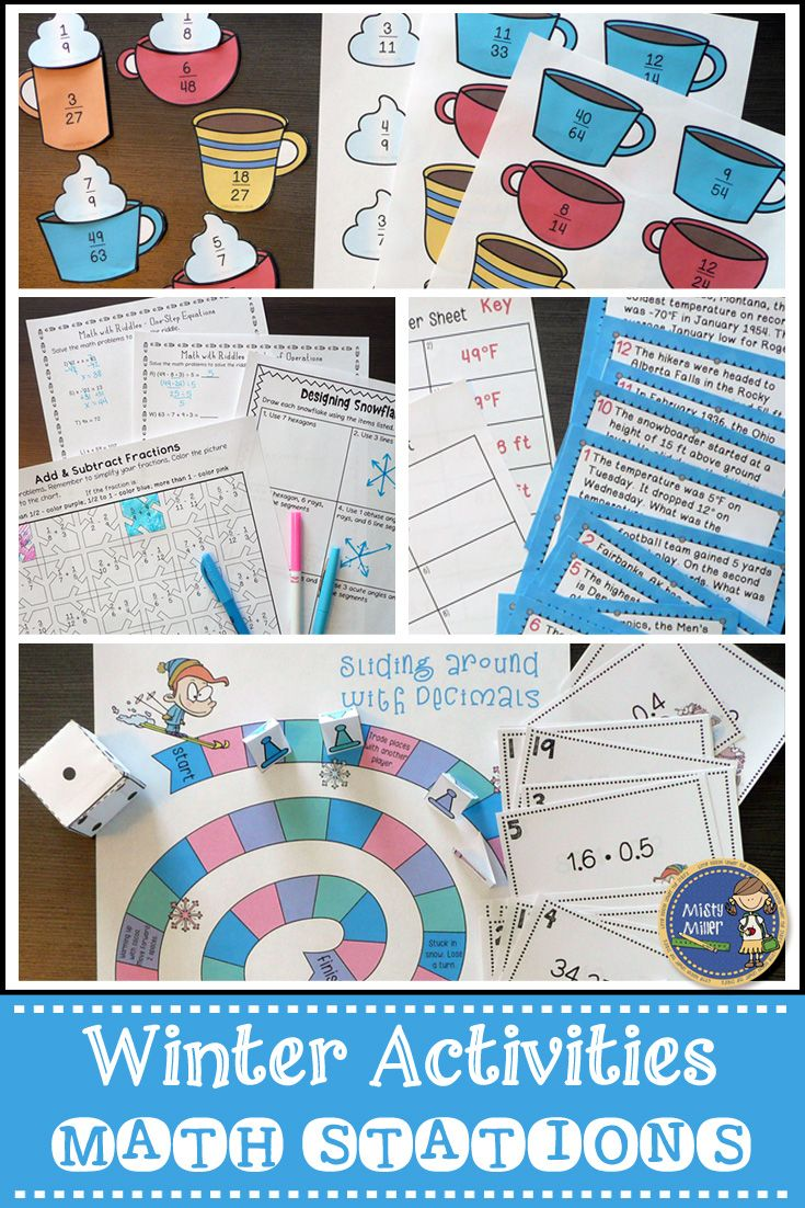 Winter Math Activities | Winter activities, Equation and Math