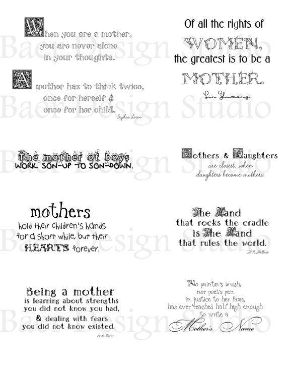 Mother Quotesgrandmother Quotes Digital Word Art Scrapbooking