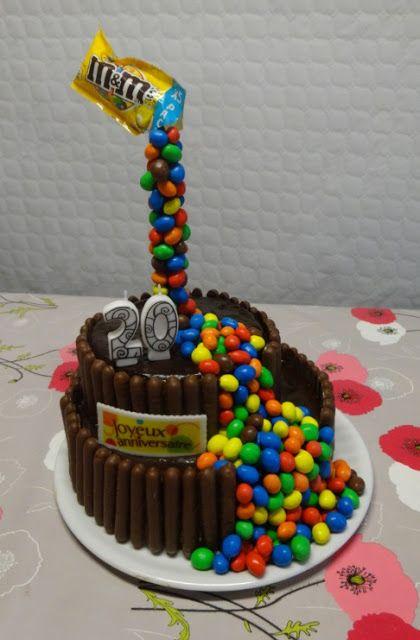 pâtisserie gâteau anniversaire gravity cake m&m's gâteau rigolo