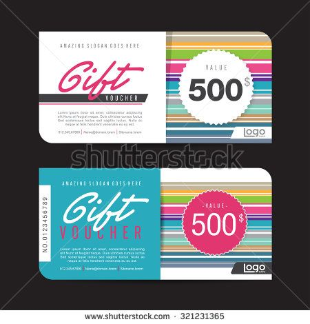 Gift voucher template with colorful pattern,Vector illustration - payment voucher template