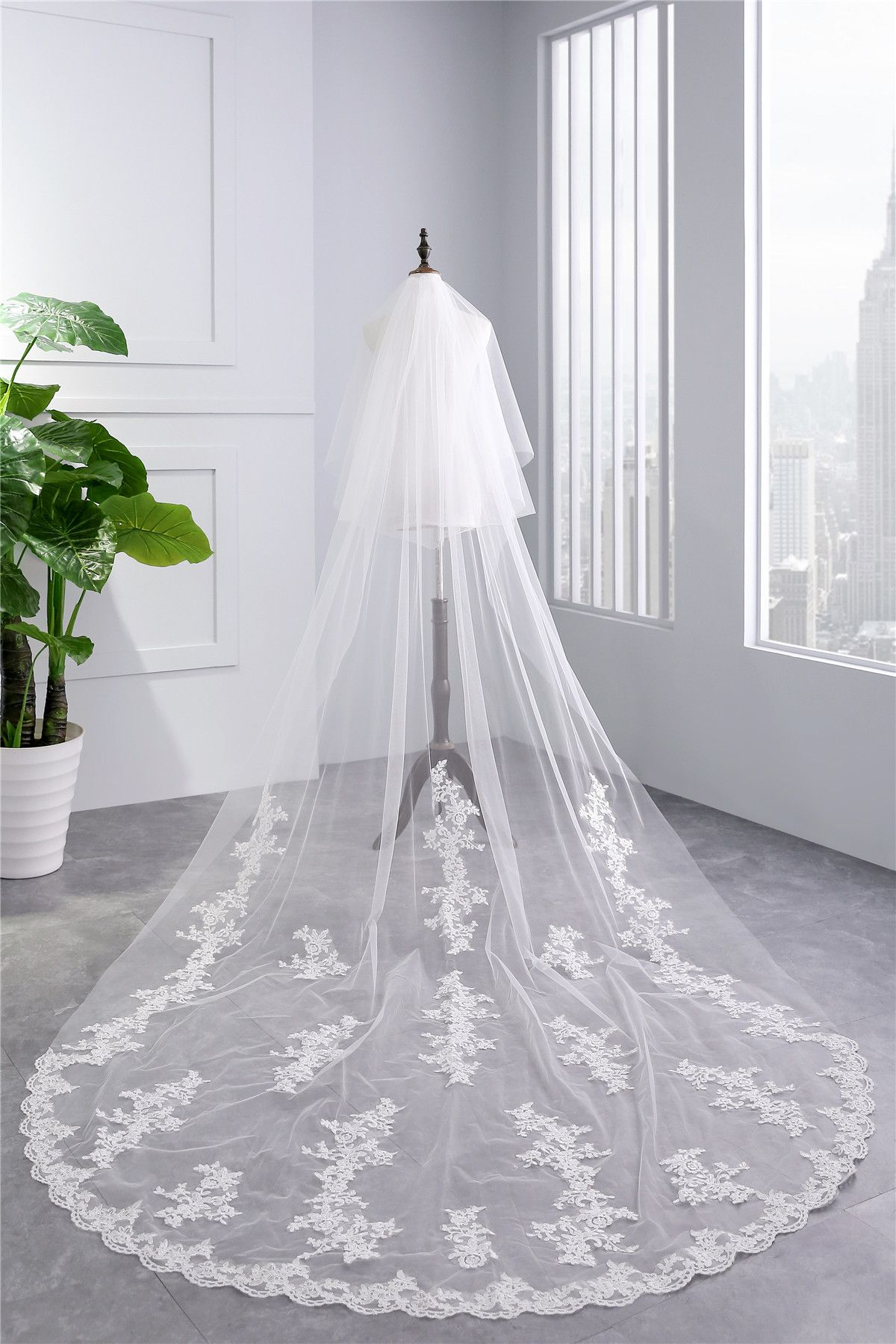 Cathedral Tulle Lace Wedding Veil Bridal Veil from