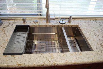 Beautiful Franke Peak Sink Installation! Makes Use Of Colander And Bottom  Grid. Http: