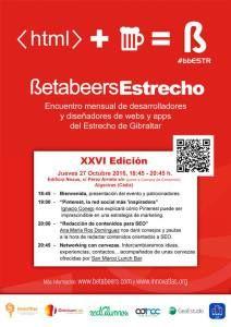 El jueves 27 de octubre estaré en BetaBeers Estrecho de Gibraltar, compartiendo una tarde de aprendizaje y conocimientos hasta que el cuerpo aguante ;)  #Pinterest correrá de mi cuenta, #Contenidos + #SEO de la mano de Ana Mari Ros .. y las cervezas de #Alhambra ,) #bbEstr