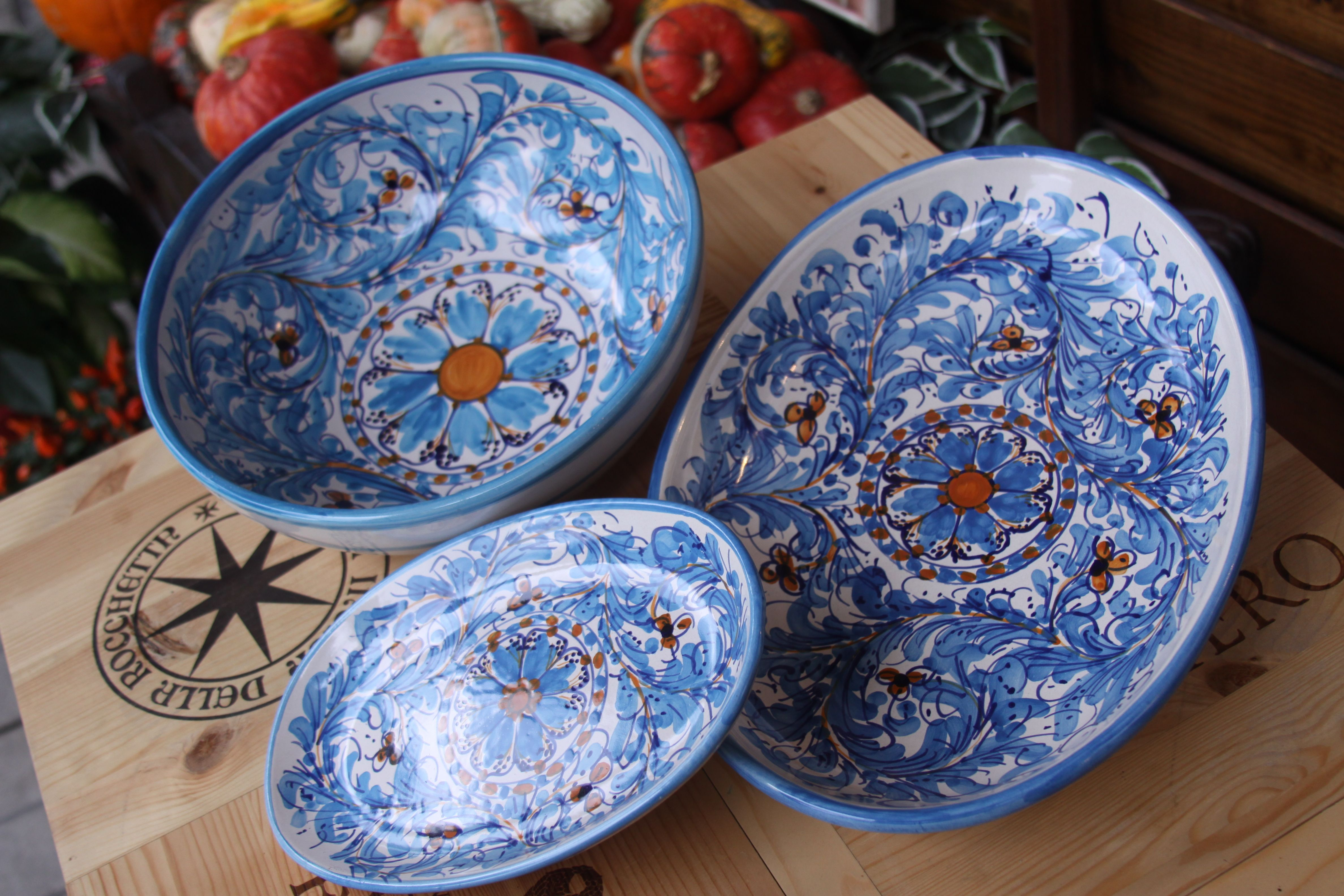 Sicilian & Sicilian Maiolica at Conti Tuscany Flavours ... Hand made in Sicily ...