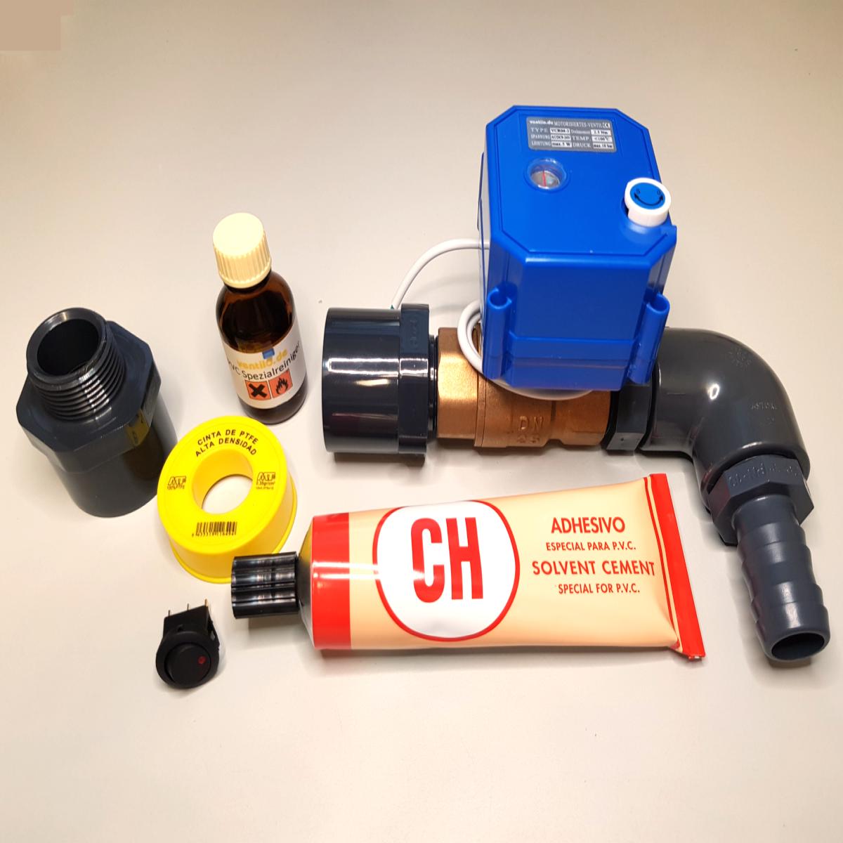 Komplettset 1 Abwasserventil Dn25 Elektrisch 12v Mit Anschluss 40mm Rohr Am Wohnmobil Ventilo Com Wohnmobil Elektrisch Abwasser