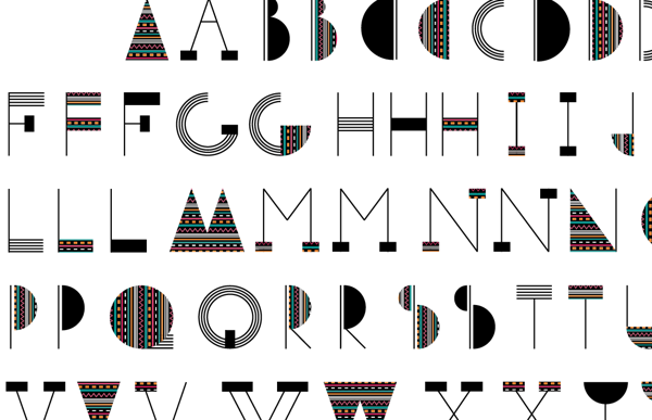 Experimetal pattern typography on Behance
