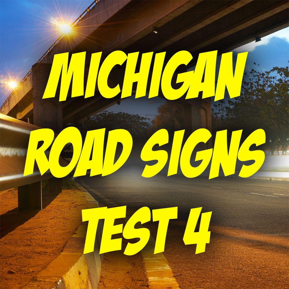 michigan drivers license road sign test