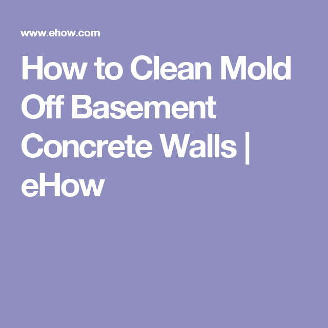 How to Clean Mold Off Basement Concrete Walls | eHow  sc 1 st  Pinterest & How to Clean Mold Off Basement Concrete Walls | Concrete walls ...