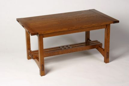 Assemble An Arts Crafts Coffee Table Stool Woodworking Plans