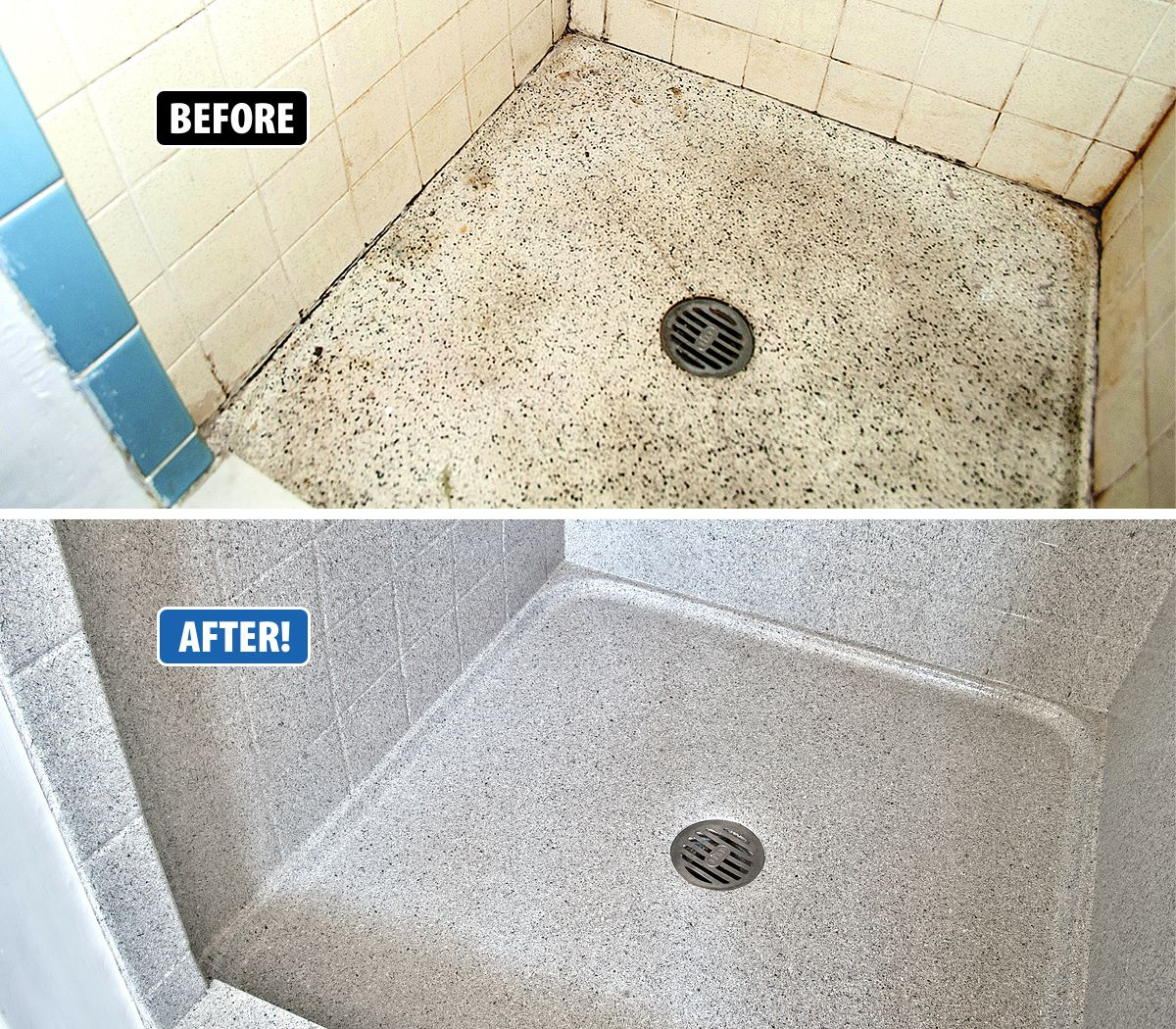 Ugly, leaking shower pan? Don\'t replace, refinish! Miracle Method ...