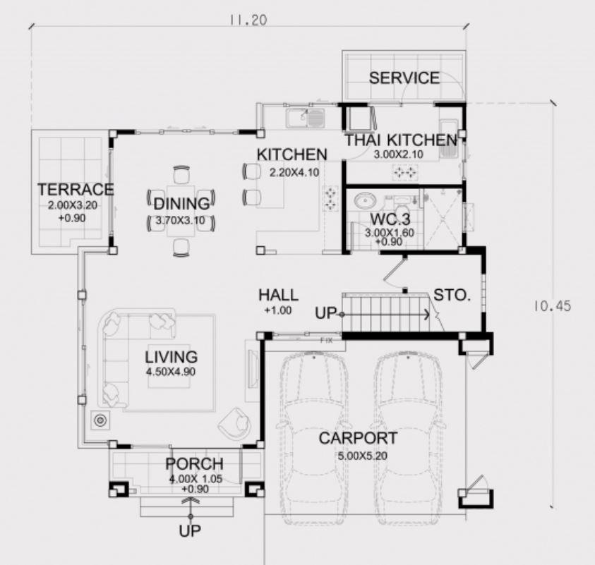 Home Design Plan 11x10m With 3 Bedrooms Home Design With Plansearch Home Design Plan House Design Home Design Plans