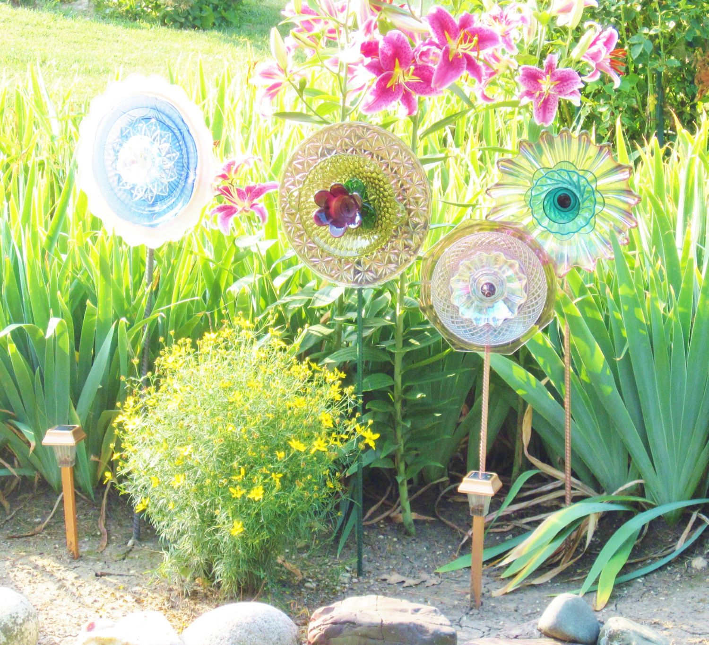 Reclaimed Glass Garden Art Yard Decor Colorful Suncatcher UpCycled ...