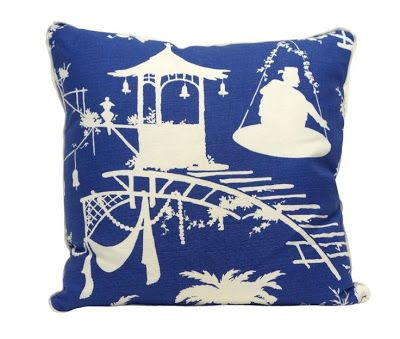 Chinoiserie Chic Introducing Thibaut's South Sea Chinoiserie Mesmerizing South Seas Decorative Pillows