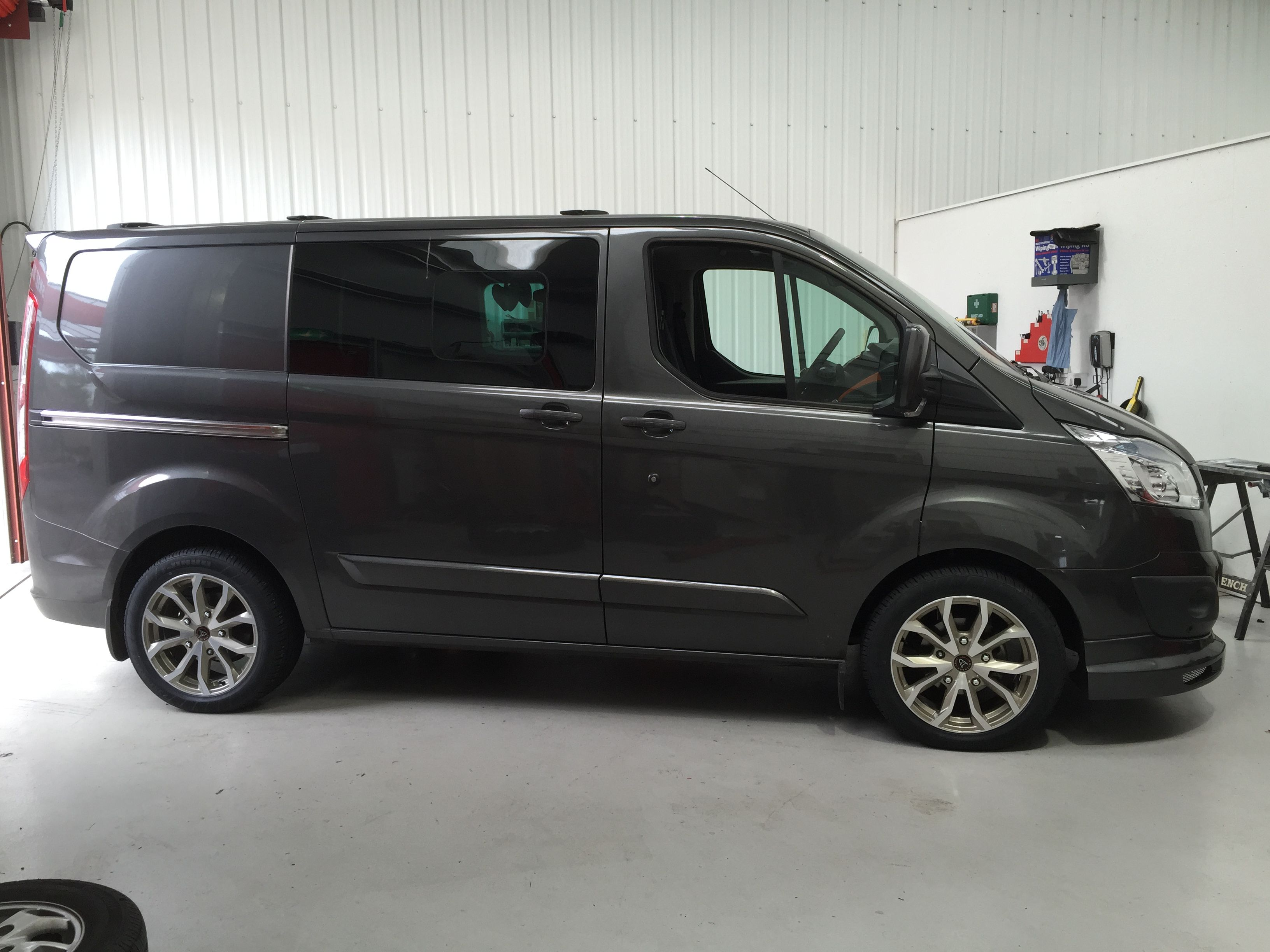 Transit With Assassin Trs Wolfrace Alloy Wheels Before After