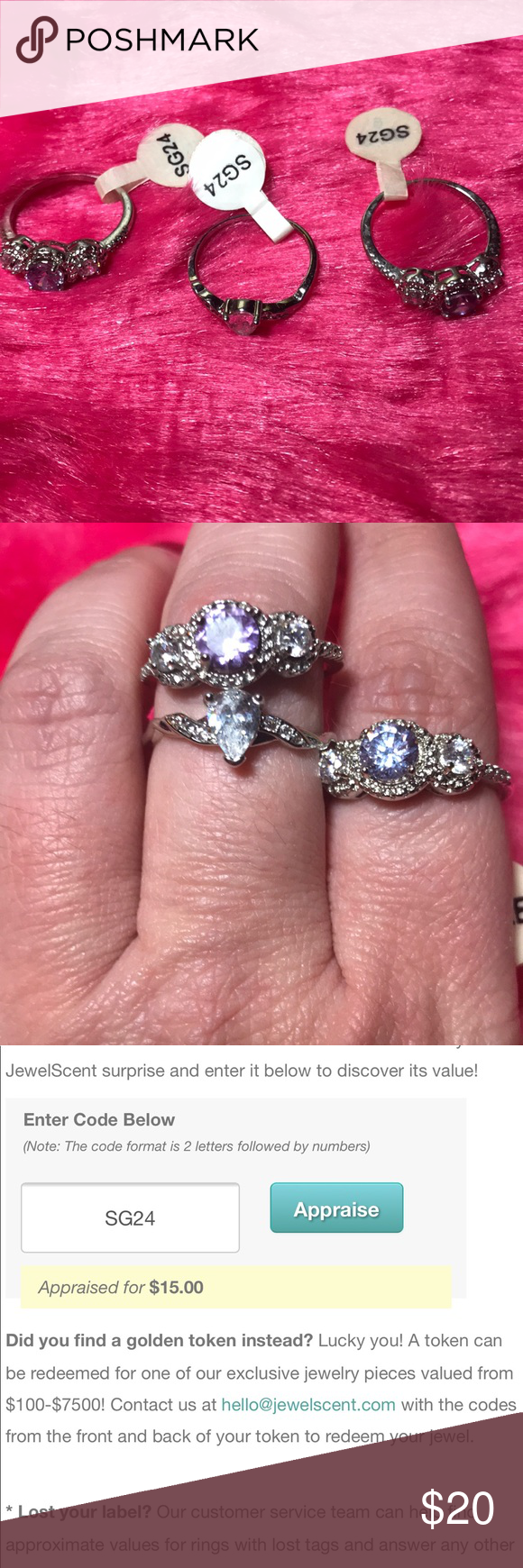🚨5 for $25🚨Bundle of JewelScent Size 9 Rings