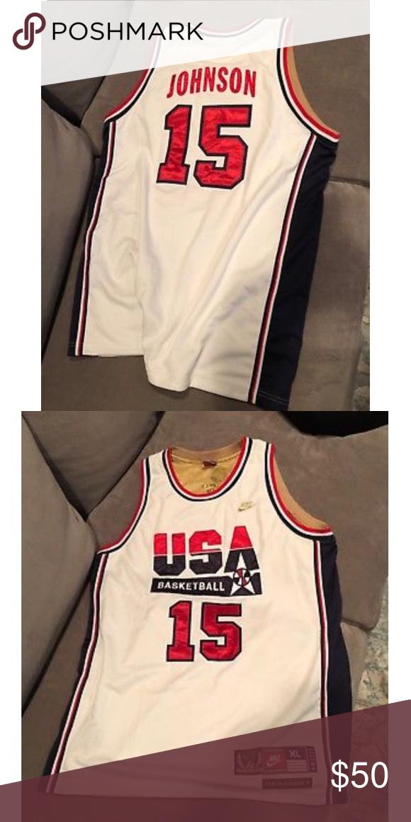 87dc667dc38c Team USA Basketball Jersey Nike Earving (Magic) Johnson Dream Team USA  Basketball Jersey Size XL Like New Other
