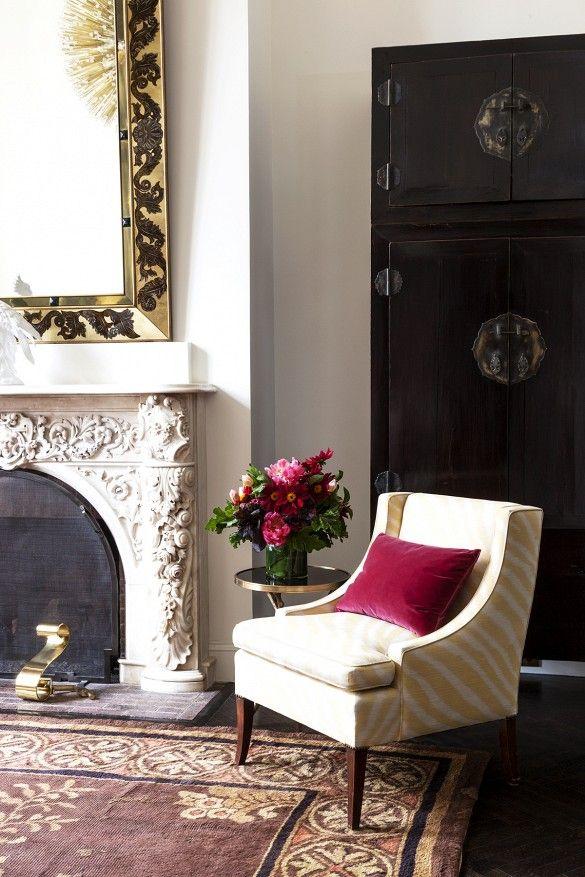 Wonderful Room · Yellow Zebra Arm Chair ...