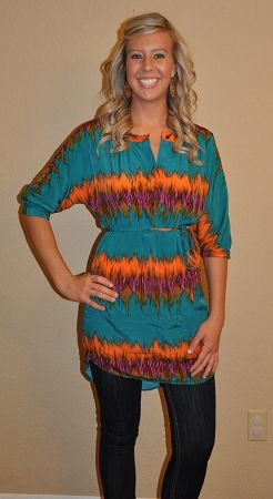 THUNDERBOLT BLOUSE DRESS