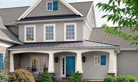Valspar Exterior Paint Palette With Cathedral Stone Gray