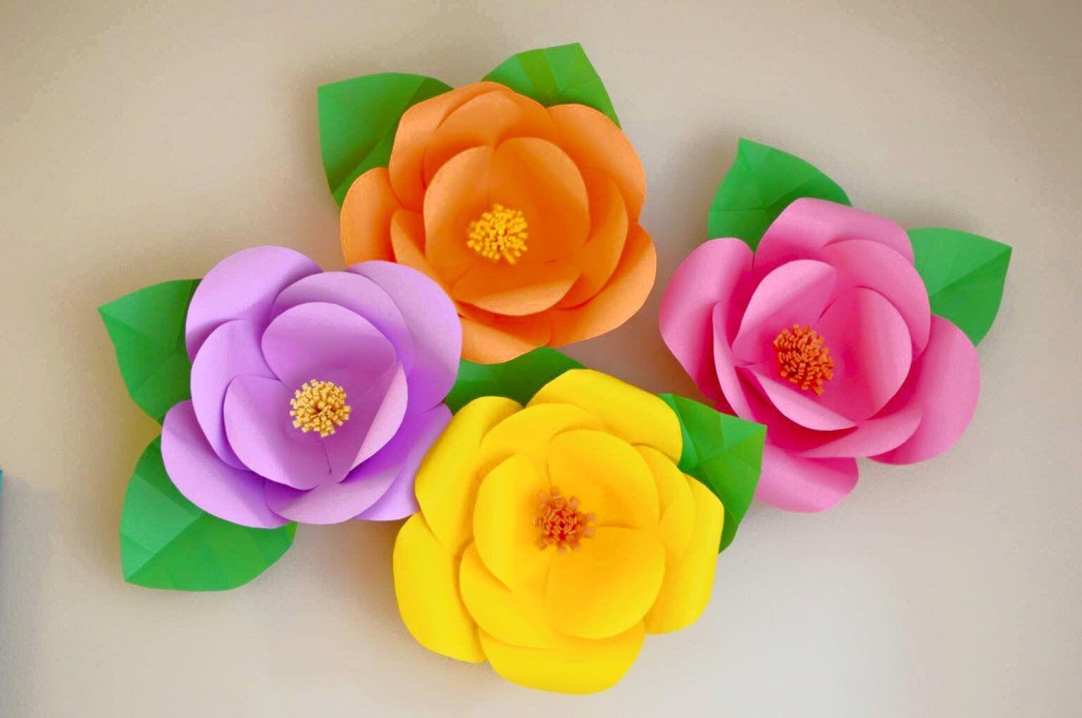 Flores Gigantes De Papel Facil Y Economicas Papel Pinterest