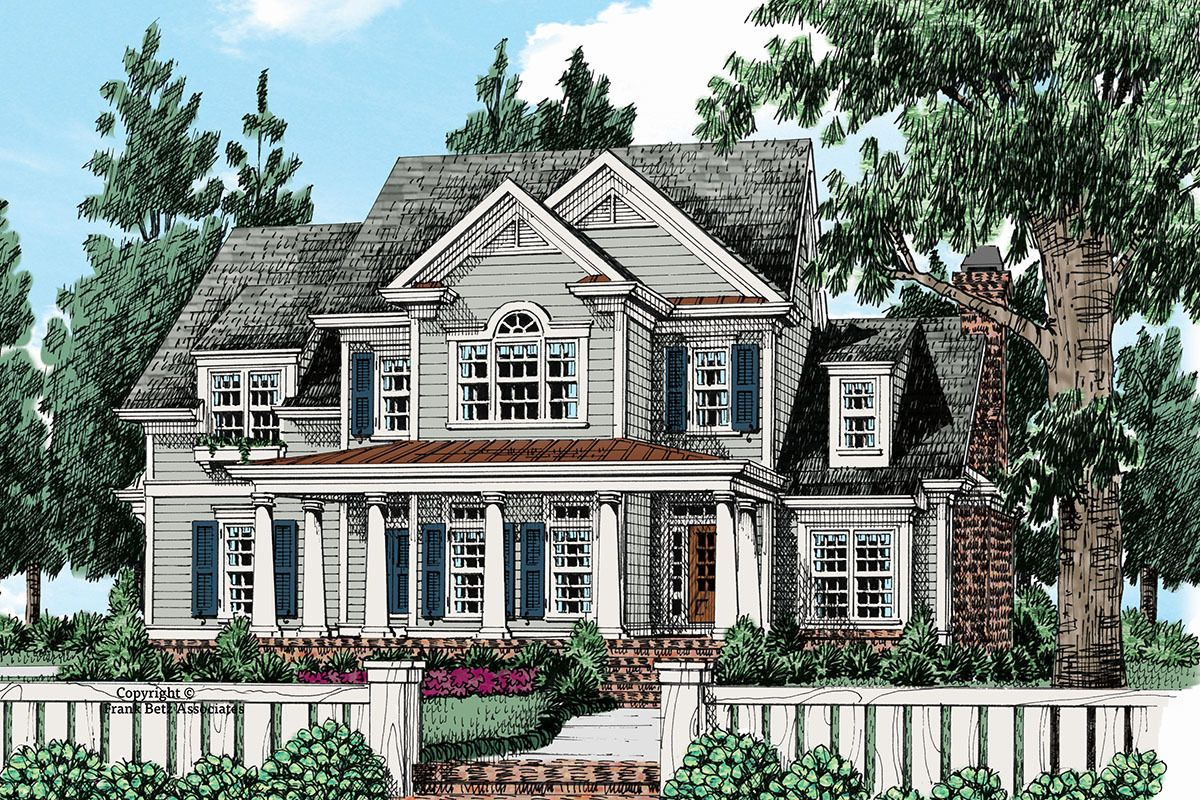 Plan 710280btz 4 Bed Colonial House Plan With Open Floor Plan In 2021 Colonial House Plans Colonial House Brick House Plans